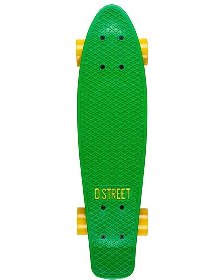 D-Street Poly Prop Skateboard Cruiser Green/Yellow