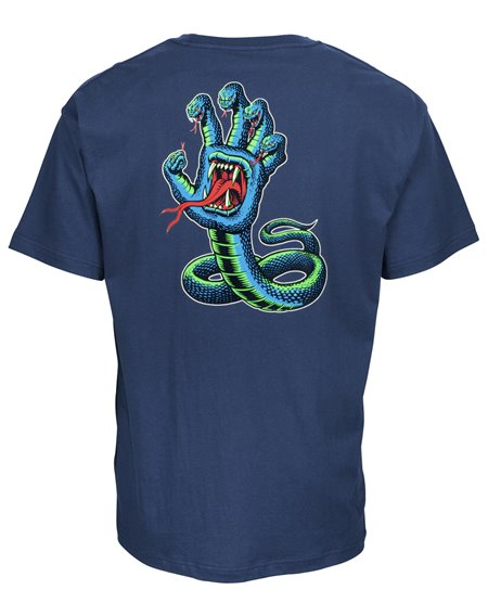 Santa Cruz Herren T-Shirt Hissing Hand Colour Indigo