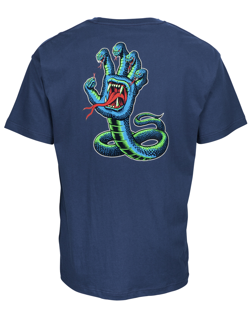Santa Cruz Men's T-Shirt Hissing Hand Colour Indigo