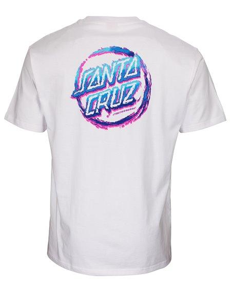 Santa Cruz Throw Down Dot Camiseta para Hombre White