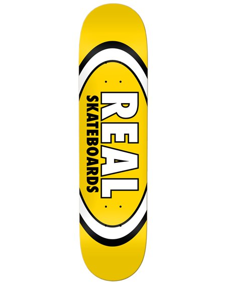 "Real Tabla Skateboard Team Classic Oval 8.06"" Yellow"