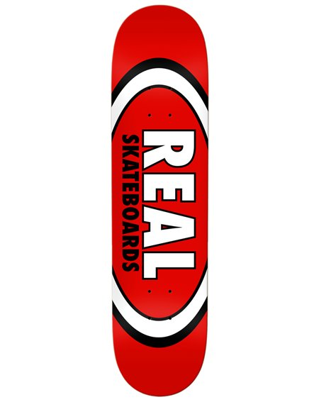 """Real Plateaux Skateboard Team Classic Oval 8.12"""" Red"""