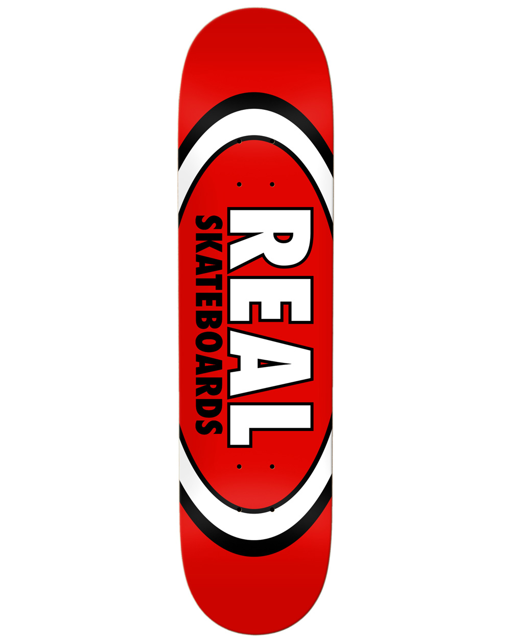 """Real Team Classic Oval 8.12"""" Skateboard Deck Red"""