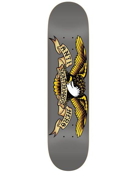 "Anti Hero Plateaux Skateboard Classic Eagle 8.25"" Grey"