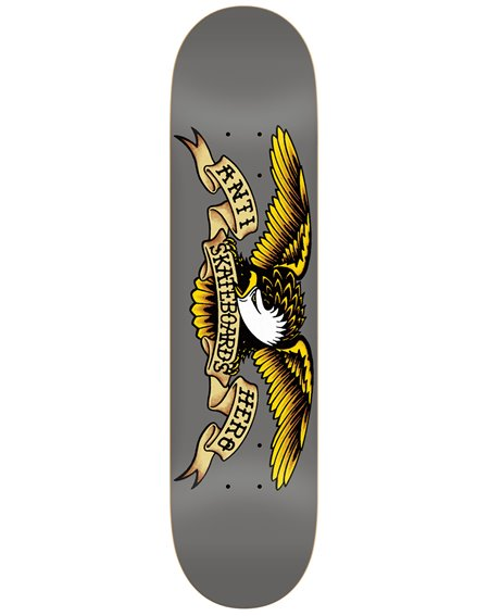 "Anti Hero Tabla Skateboard Classic Eagle 8.25"" Grey"