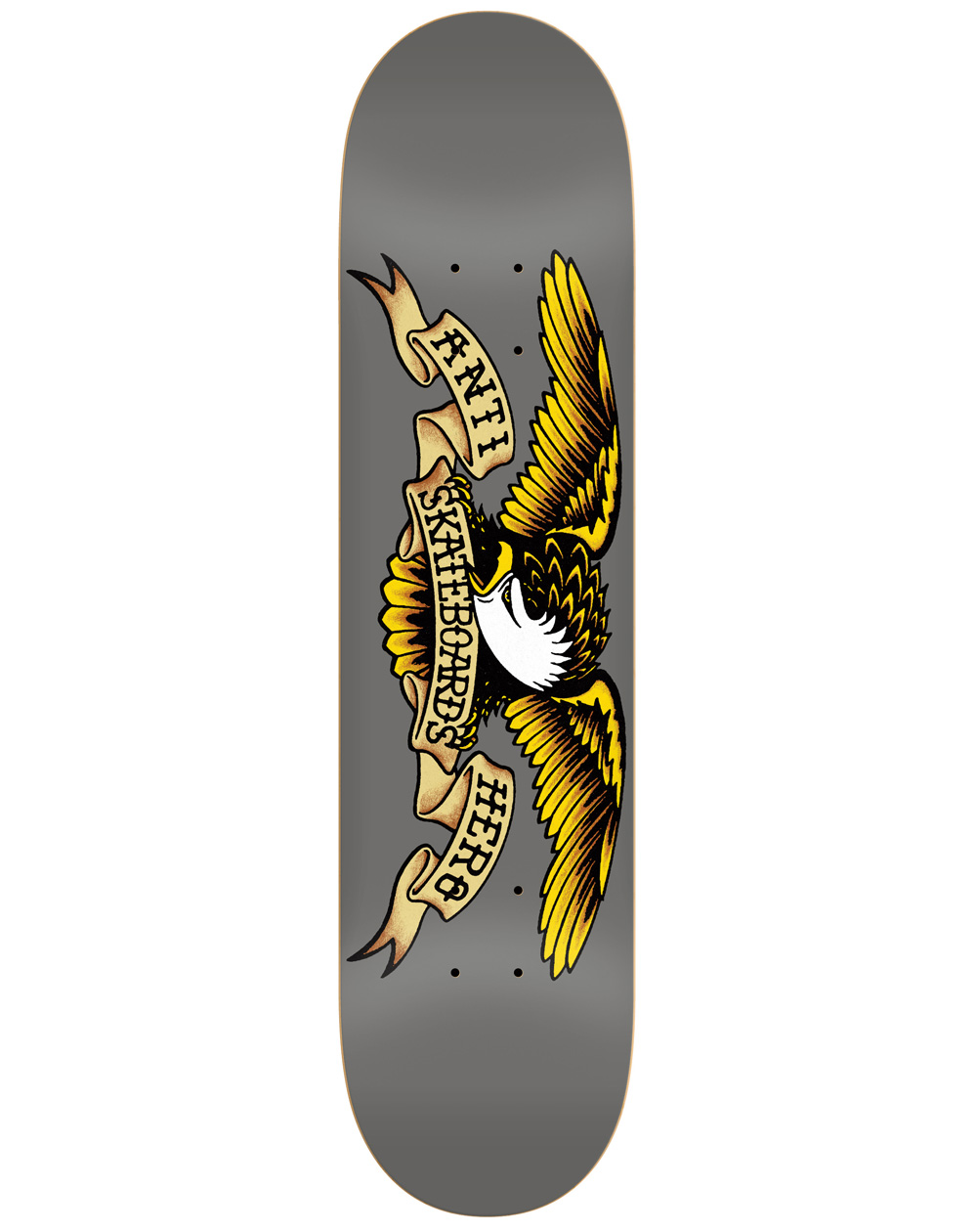 "Anti Hero Classic Eagle 8.25"" Skateboard Deck Grey"