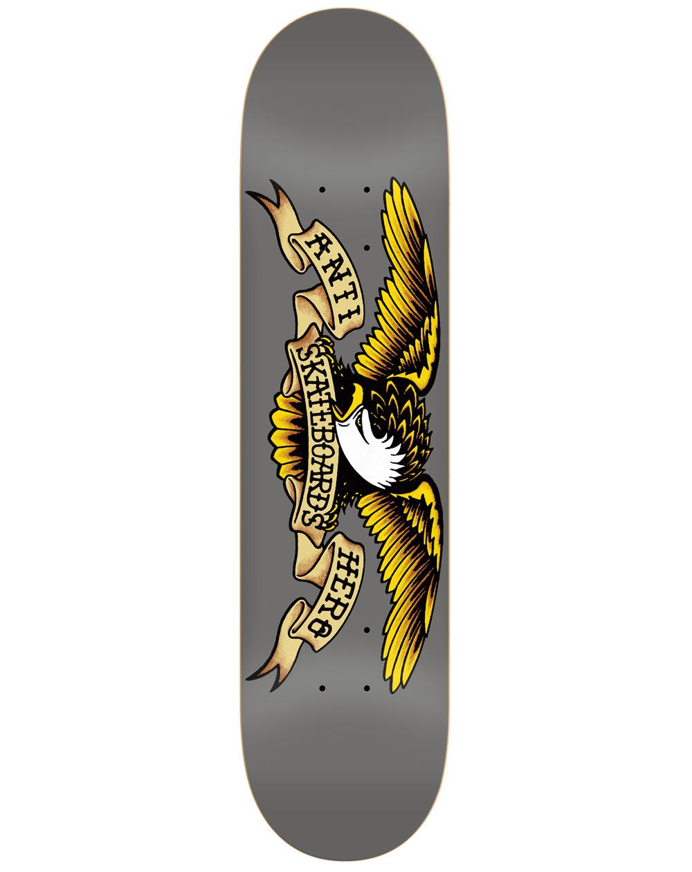 "Anti Hero Tavola Skateboard Classic Eagle 8.25"" Grey"
