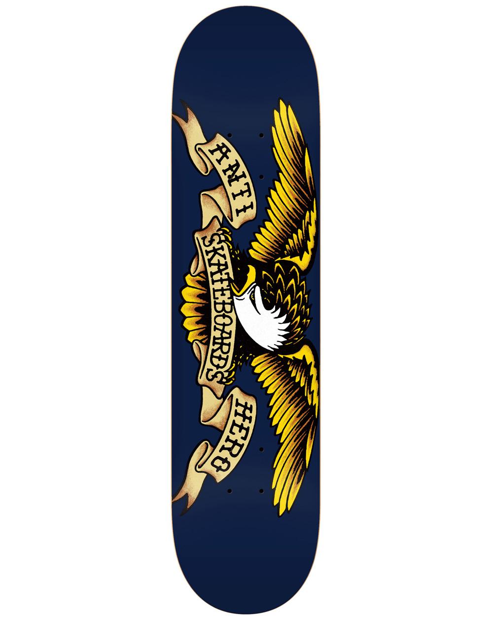 "Anti Hero Classic Eagle 8.5"" Skateboard Deck Navy"