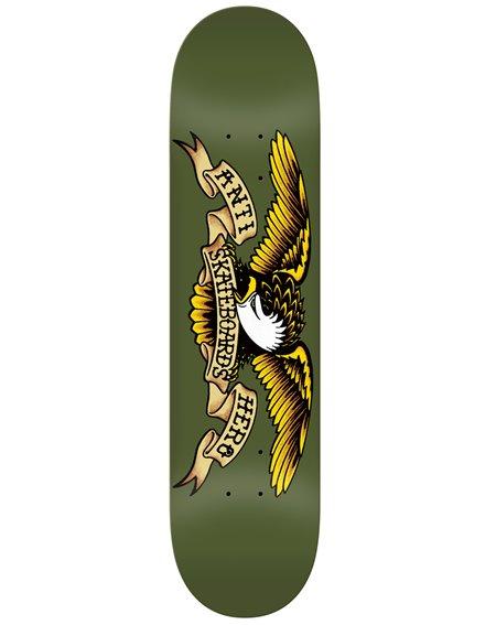 """Anti Hero Plateaux Skateboard Classic Eagle 8.38"""" Olive"""