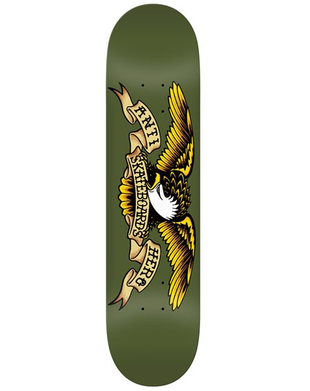 """Anti Hero Tavola Skateboard Classic Eagle 8.38"""" Olive"""