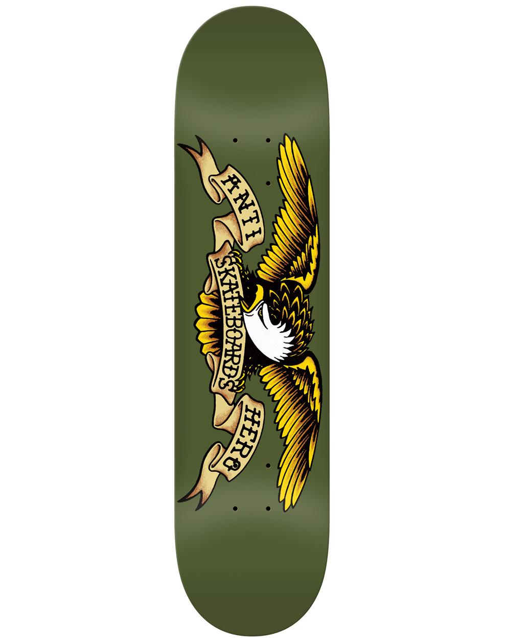 """Anti Hero Shape Skate Classic Eagle 8.38"""" Olive"""
