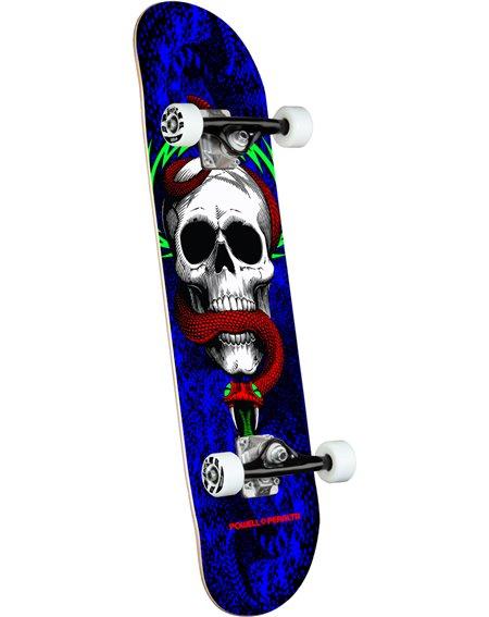 """Powell Peralta Skateboard Completo Skull & Snake 7.75"""" Royal"""