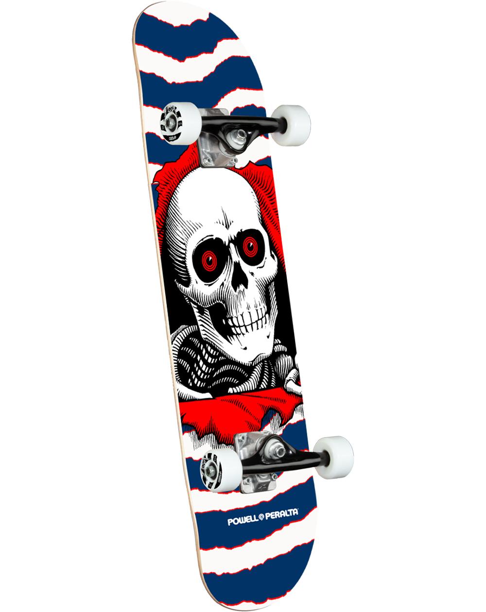 "Powell Peralta Ripper 7.75"" Complete Skateboard Navy"