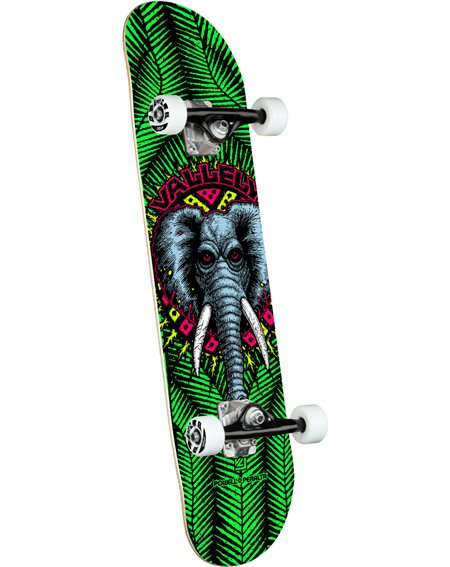 """Powell Peralta Vallely Elephant 8"""" Complete Skateboard Green"""