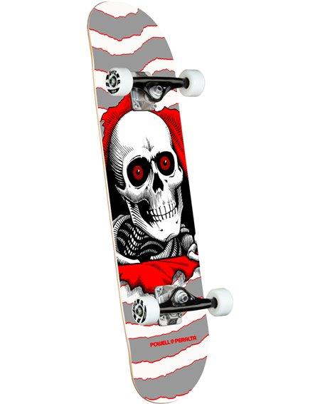 """Powell Peralta Skateboard Completo Ripper 8"""" Silver"""