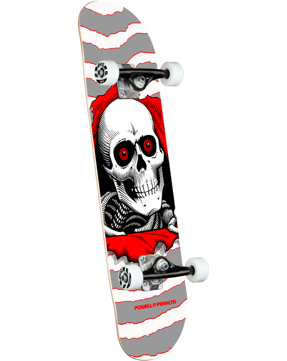 "Powell Peralta Ripper 8"" Complete Skateboard Silver"