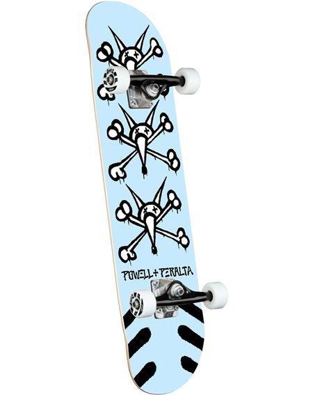 """Powell Peralta Skate Montado Vato Rats 8"""" Light Blue"""