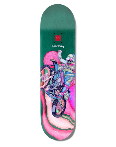 "Chocolate Plateaux Skateboard Psych Bike One-Off Tershy 8.25"""