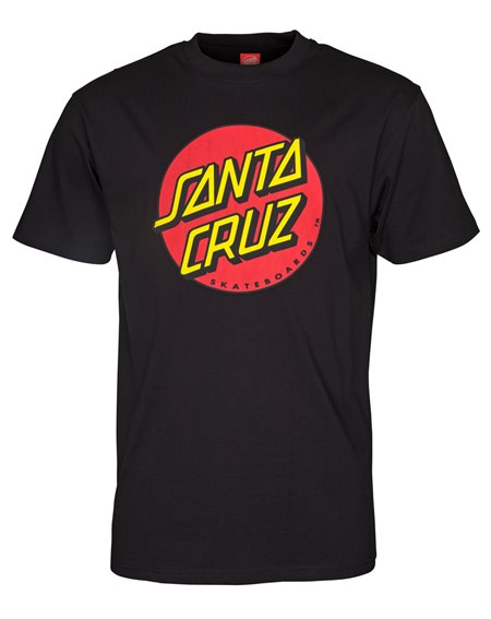Santa Cruz Classic Dot T-Shirt Uomo Black