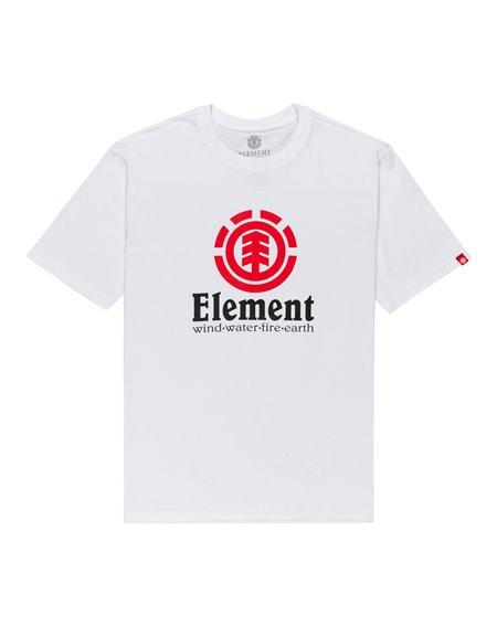 Element Vertical T-Shirt Uomo Optic White