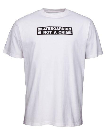 Santa Cruz Not a Crime Camiseta para Homem White