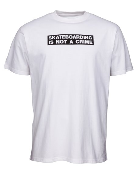 Santa Cruz Not a Crime T-Shirt Uomo White