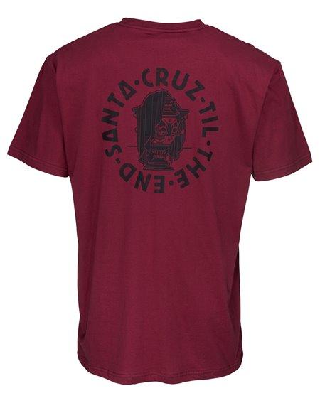 Santa Cruz Til The End T-Shirt Uomo Burgundy