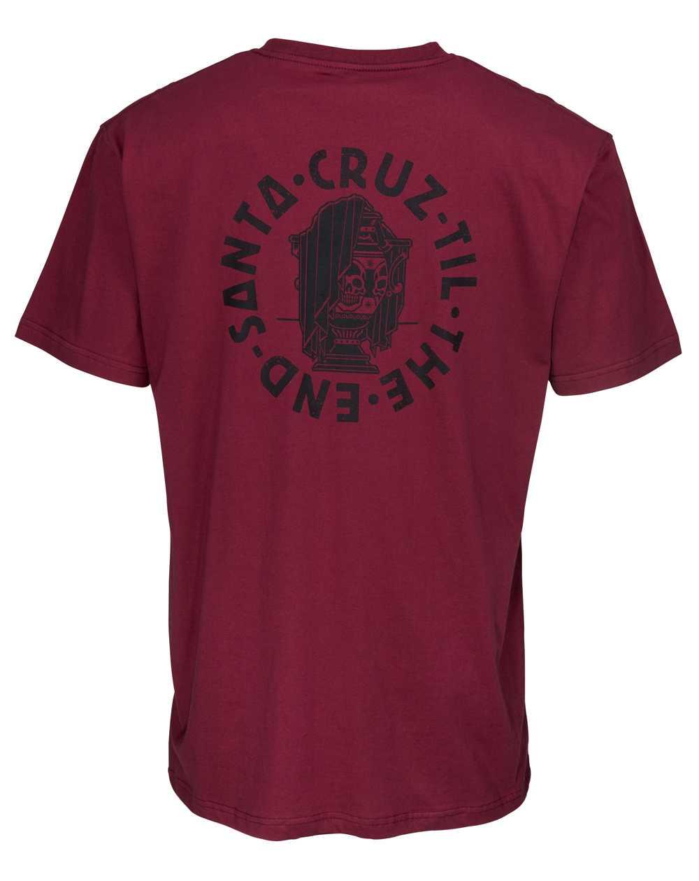 Santa Cruz Herren T-Shirt Til The End Burgundy
