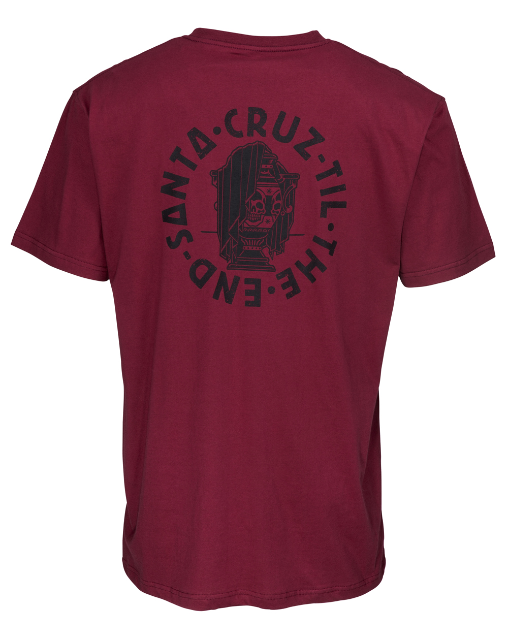 Santa Cruz Til The End T-Shirt Homme Burgundy
