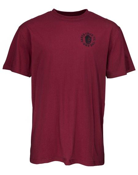 Santa Cruz Men's T-Shirt Til The End Burgundy