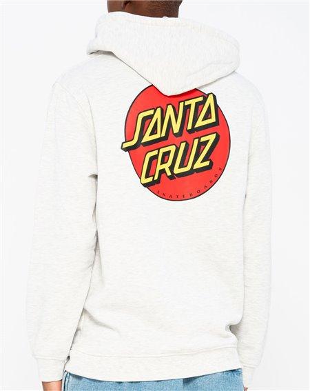 Santa Cruz Men's Full Zip Hoodie Classic Dot Athletic Heather