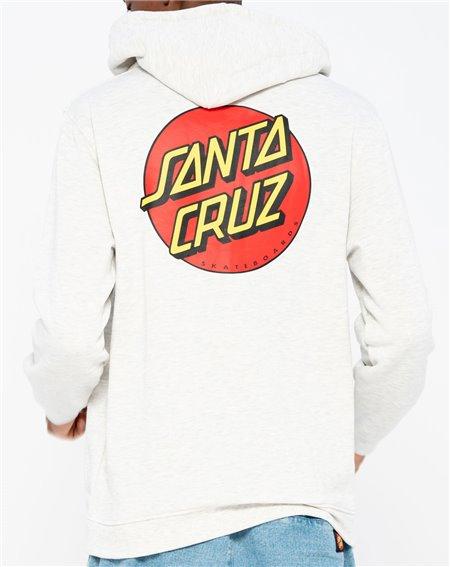 Santa Cruz Classic Dot Moleton com Capuz com Zíper para Homem Athletic Heather