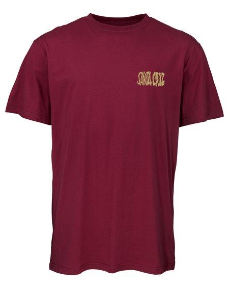Santa Cruz Men's T-Shirt Knox Firepit Burgundy