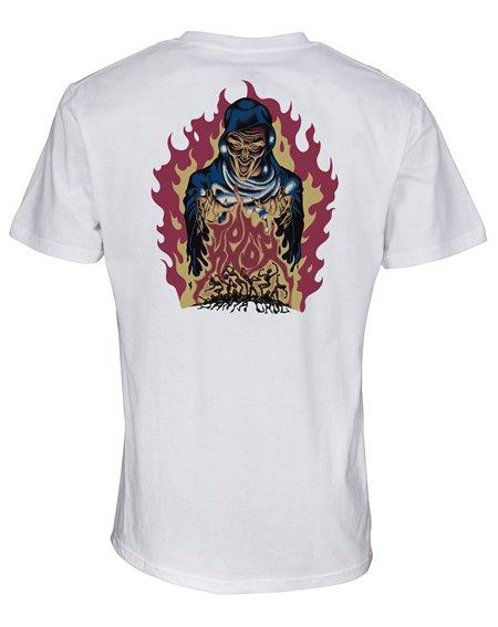 Santa Cruz Knox Firepit T-Shirt Homme White