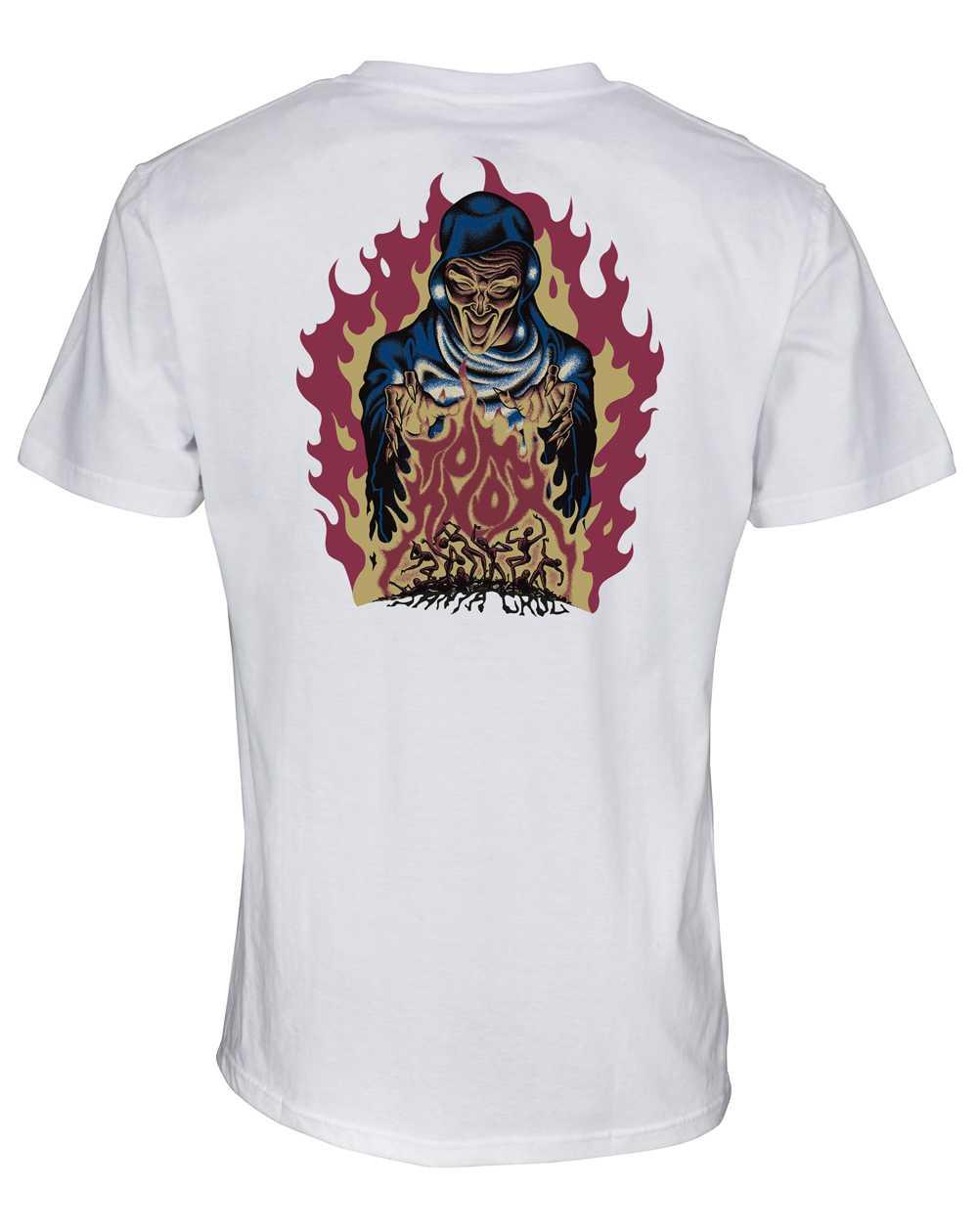 Santa Cruz Knox Firepit T-Shirt Uomo White