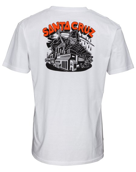 Santa Cruz Fate Factory T-Shirt Uomo White