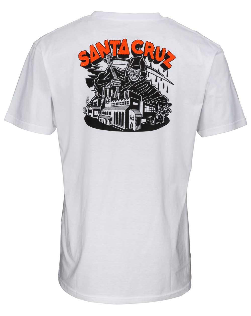 Santa Cruz Fate Factory T-Shirt Homme White