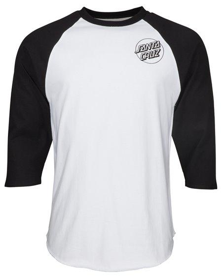 Santa Cruz Herren T-Shirt Screaming Skull Baseball Black/White