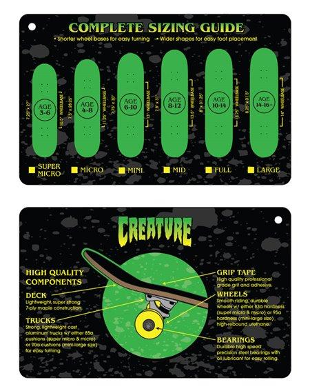"""Creature Skateboard Logo Outline Large 8.25"""""""