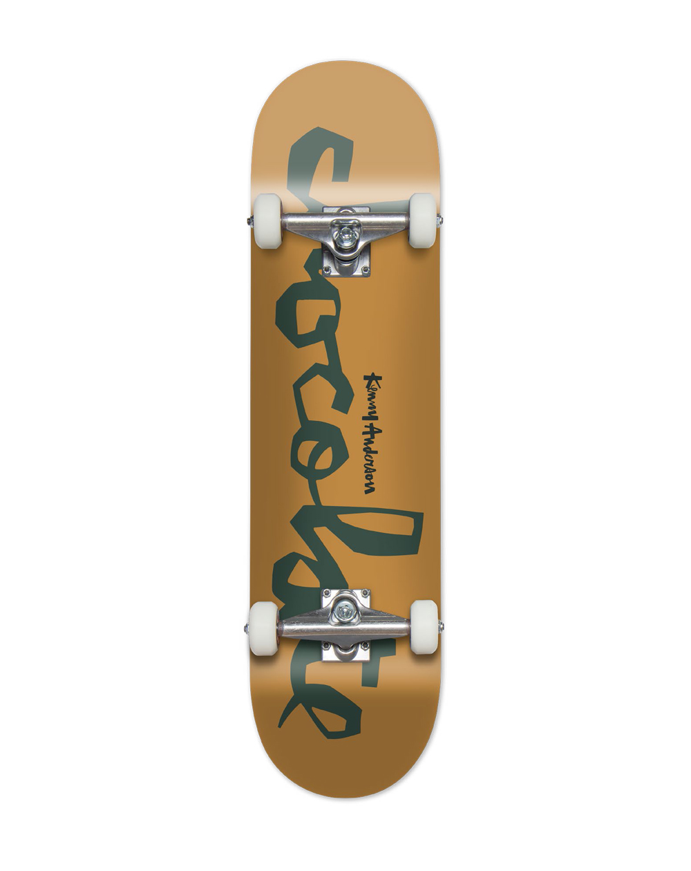 """Chocolate Kenny Anderson 7.5"""" Complete Skateboard Yellow"""