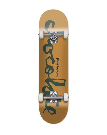 """Chocolate Kenny Anderson 8"""" Complete Skateboard Yellow"""