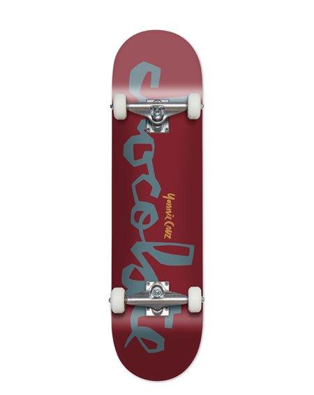 "Chocolate Yonnie Cruz 7.875"" Complete Skateboard Red"