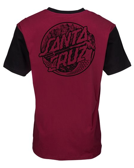 Santa Cruz Herren T-Shirt Mermaid Dot Burgundy