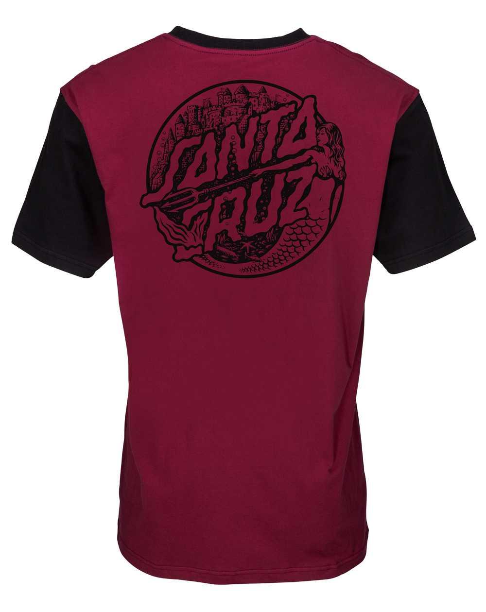 Santa Cruz Mermaid Dot T-Shirt Uomo Burgundy