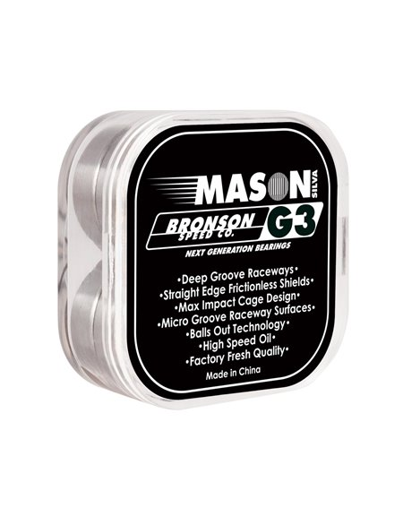 Bronson Speed Co. Cuscinetti Skateboard G3 Pro Mason Silva