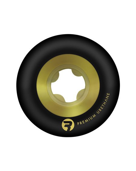Ricta Chrome Core 52mm 99A Skateboard Wheels Black/Gold pack of 4