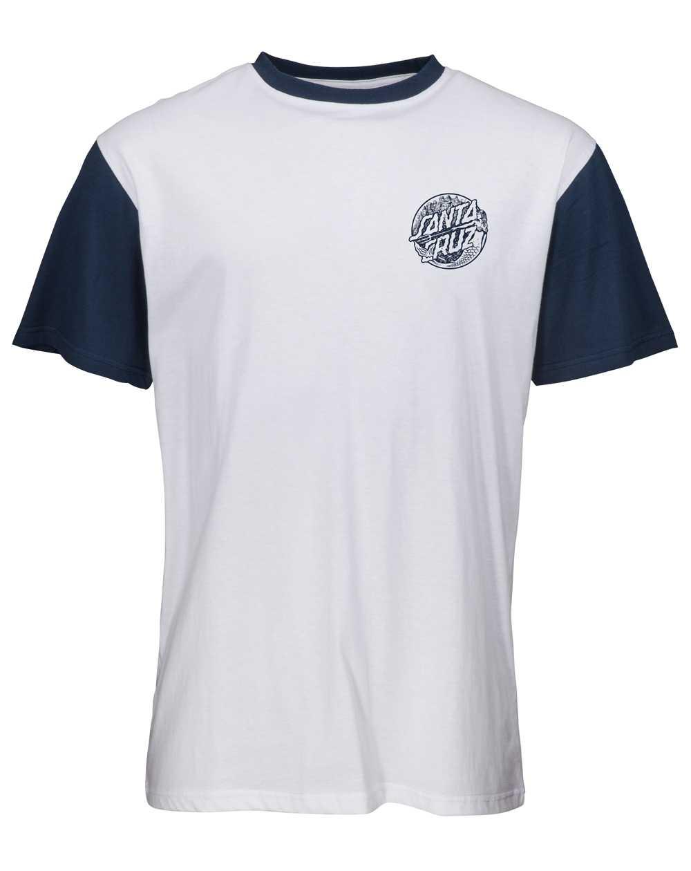 Santa Cruz Men's T-Shirt Mermaid Dot White