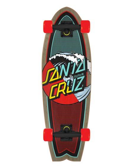 """Santa Cruz Skateboard Cruiser Classic Wave Splice Shark 27.7"""""""