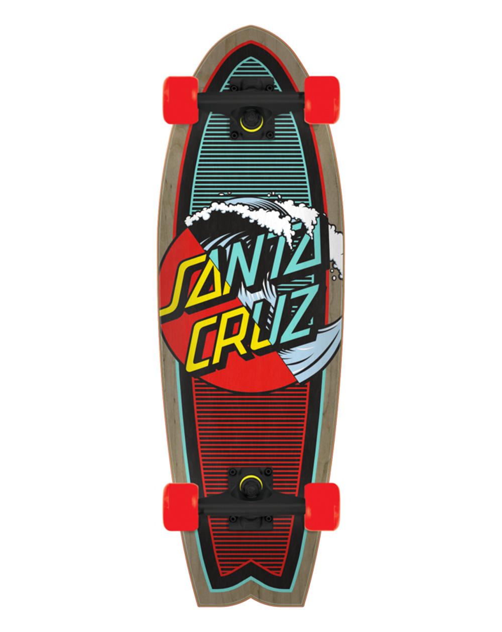 """Santa Cruz Classic Wave Splice Shark 27.7"""" Skateboard Cruiser"""