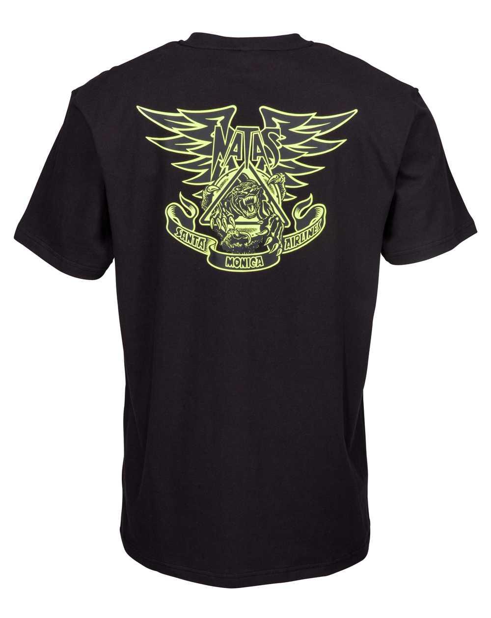 Santa Cruz Natas Panther T-Shirt Uomo Black